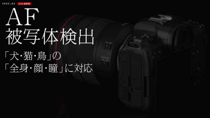 キヤノンEOS R5新情報 (画素数4000万画素?)