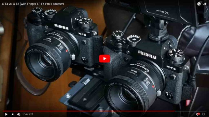 富士フイルムX-T4とX-T3のAF性能比較動画